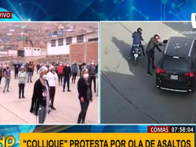 Collique: vecinos se unen para protestar contra delincuencia y exigir seguridad