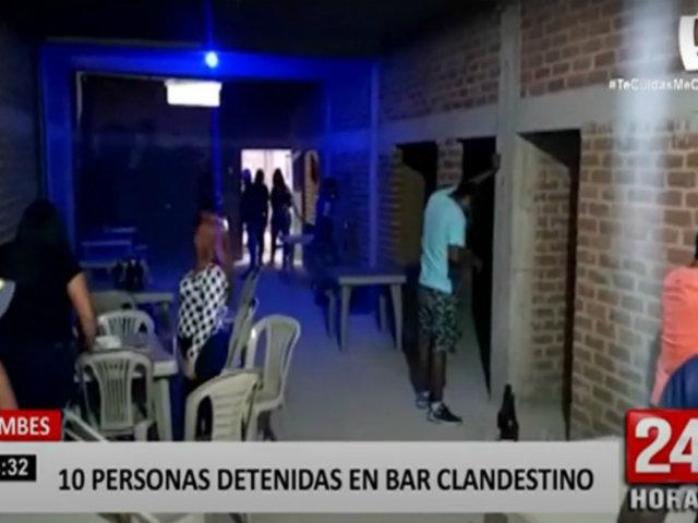 Tumbes: intervienen bar clandestino y ocho trabajadores resultan positivo al COVID-19