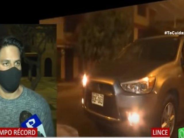 En tiempo récord, PNP halla camioneta que fue robada por delincuentes armados