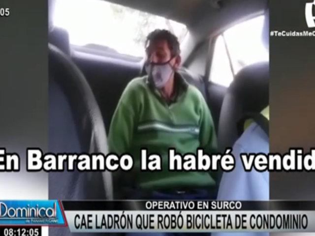 Surco: capturan a ladrón de bicicletas que tenía antecedentes por homicidio