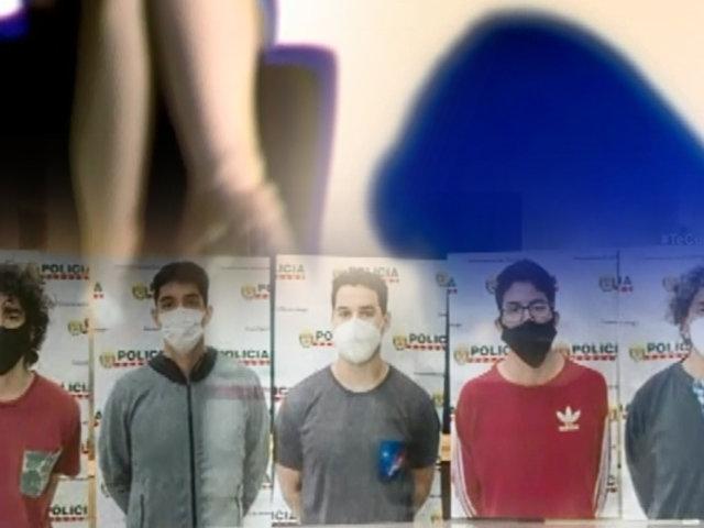 'La manada de Surco': los 5 acusados de violación grupal están detenidos en el penal de Ancón