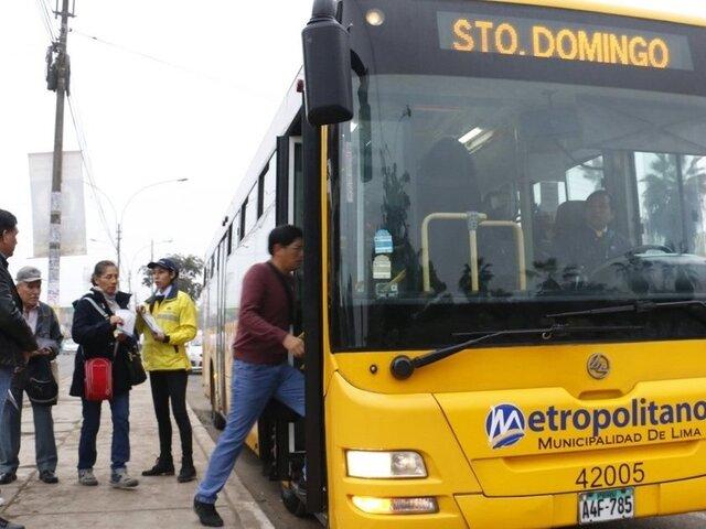 Metropolitano: implementan servicios temporales ante suspensión de rutas alimentadoras