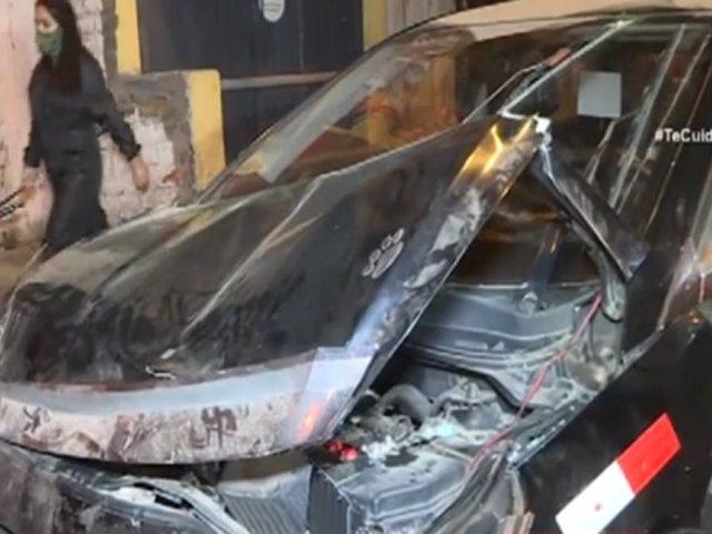 Los Olivos: conductor ebrio protagoniza aparatoso accidente en av. Palmeras
