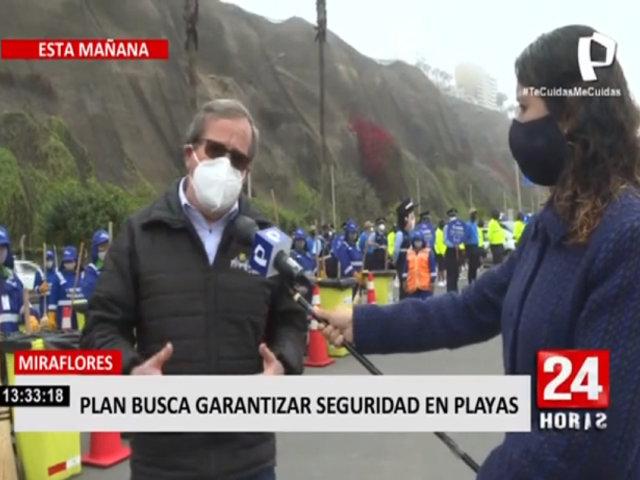Municipalidad de Miraflores presentó plan que busca garantizar seguridad en playas
