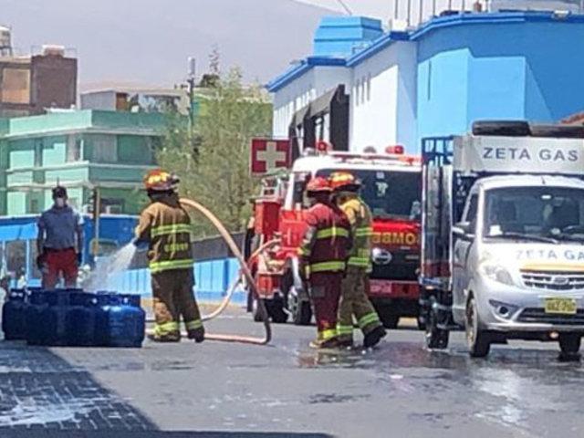 Explosión de balón de gas desata el pánico en centro histórico de Arequipa