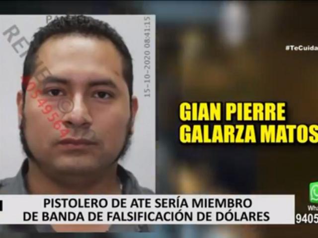 Pistolero de Ate sería miembro de banda falsificadora de dólares, según PNP