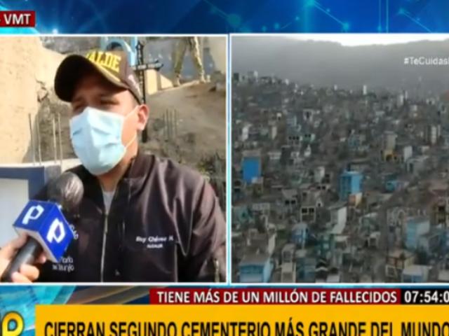 VMT: alcalde llama a no acudir a cementerio Nueva Esperanza este 1 y 2 de noviembre