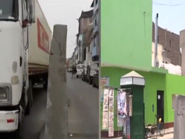 San Luis: bloques de cemento en plena pista impiden el libre tránsito