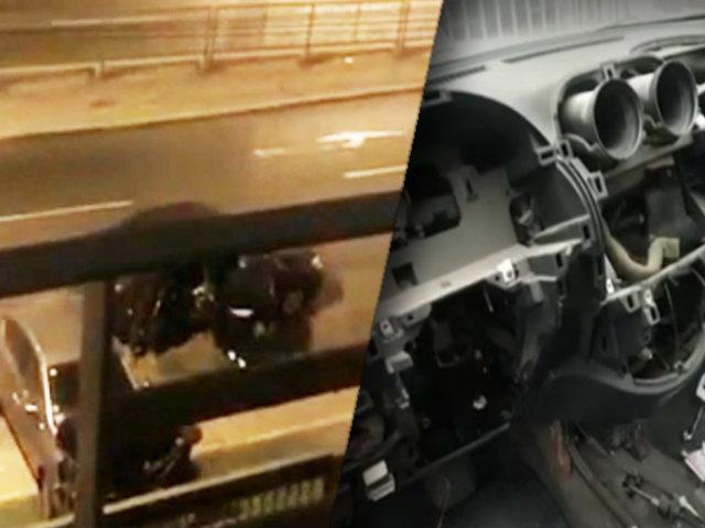 Sujetos desmantelan vehículo en pleno toque de queda