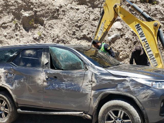 Congresista Edgar Alarcón sufrió accidente en Arequipa