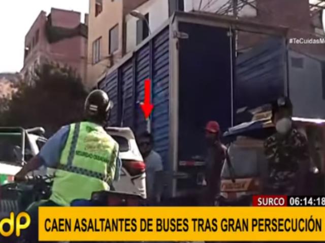 Surco: capturan tras persecución a asaltante que fugaba en mototaxi