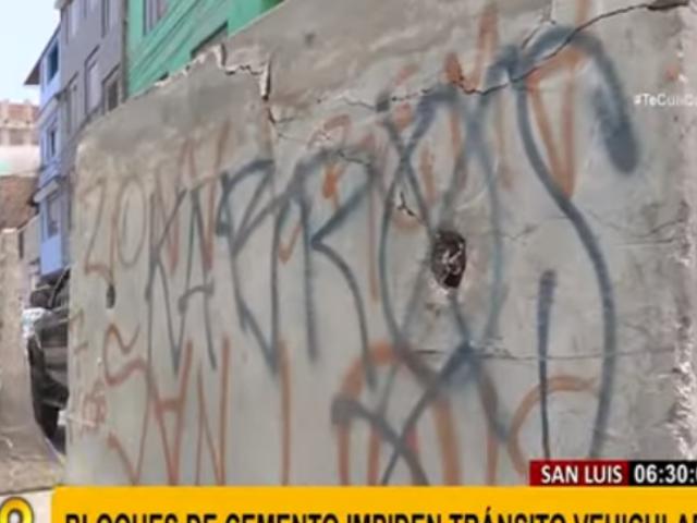 Municipalidad de San Luis se pronunció tras denuncia de vecinos sobre muros de concreto
