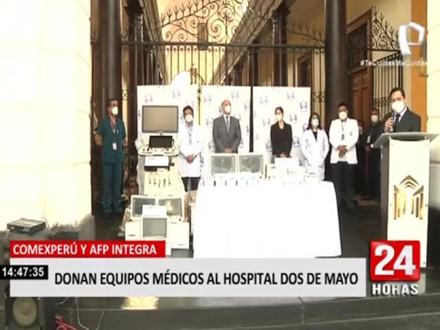 Hospital Dos de Mayo recibió donación de equipos médicos para enfrentar la pandemia