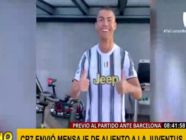 Cristiano Ronaldo y su poderoso saludo a la Juventus