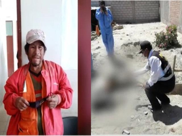 Arequipa: Obrero encontró muerto a su amigo y lo enterró cerca a su vivienda