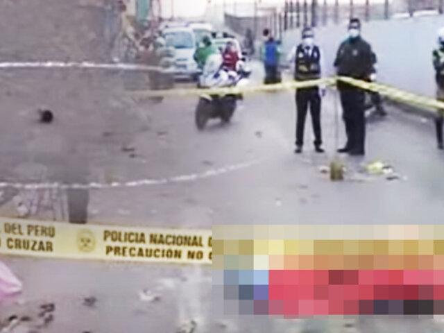 Asesinan a estibador en la avenida Zarumilla en SMP