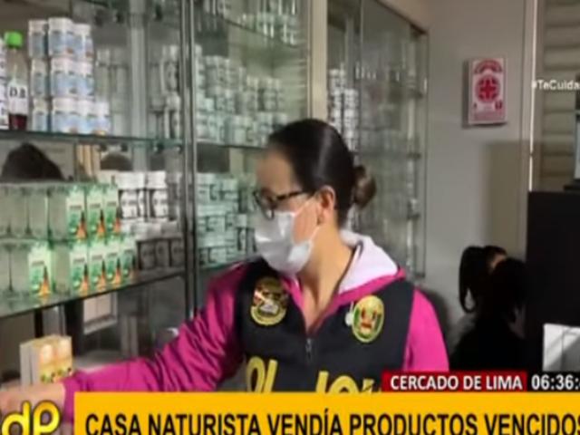 Policía intervino casa naturista y encuentran productos vencidos