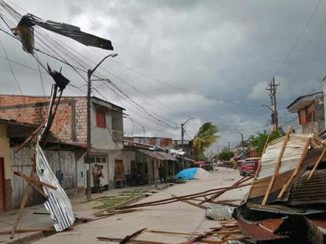 Fuertes vientos causaron daños de consideración en varias viviendas de Iquitos