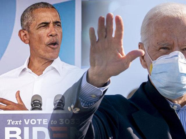 Joe Biden realiza mitin de campaña con Barack Obama
