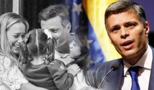 """Leopoldo López solicita desde España """"elecciones libres"""" en Venezuela"""