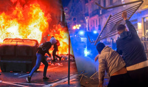Disturbios en Barcelona por protestas contra restricciones por la pandemia