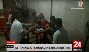 Tumbes: intervienen bar clandestino donde 6 personas dieron positivo al COVID-19