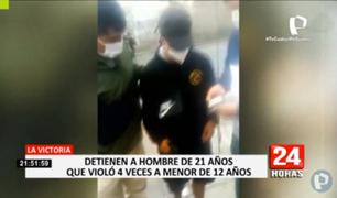 La Victoria: detienen a sujeto que violó 4 veces a menor de 12 años