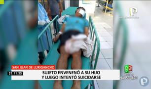 SJL: sujeto que intentó matar a su hijo será acusado por el delito contra la vida, el cuerpo y la salud
