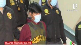 Segundo Apaza, presunto feminicida de Marleny Estrada, fue trasladado a Fiscalía
