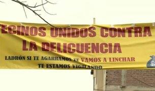 """Vecinos colocan carteles con mensaje a delincuentes: """"Los vamos a linchar"""""""