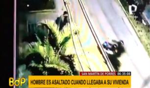 SMP: 'raqueteros' asaltan a un hombre en la puerta de su casa