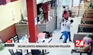 Ate: delincuentes armados asaltaron pollería