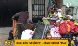 Cercado: piden ayuda a las autoridades ante foco infeccioso causado por reciclador