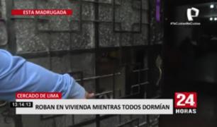 Ladrones ingresaron sin forcejear puertas de casa en el Cercado de Lima
