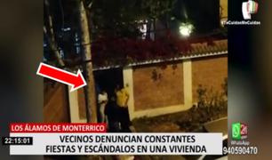 Monterrico: vecinos denuncian constantes fiestas y escándalos en una vivienda