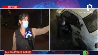 SMP: Ladrón armado arrinconó y agredió a joven para robarle el celular