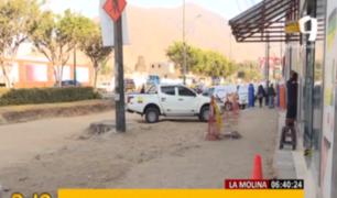 Vecinos protestan por abandono de obras en Av. La Molina