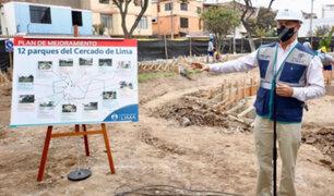 Cercado: Municipalidad de Lima realizará trabajos de mejoramiento en 12 parques