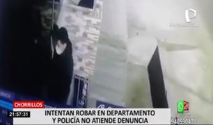 Chorrillos: intentan robar en departamento y policía no quiso recibir la denuncia