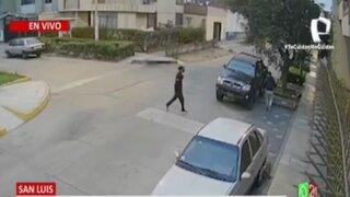 San Luis: Así se robaron, en segundos, una camioneta 4x4 estacionada en parque Los Reyes