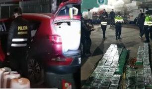 Huancayo: Incautan droga líquida y ladrillos de cocaína de alta pureza