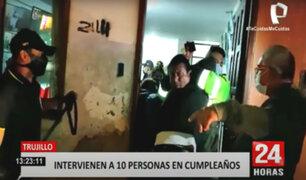 """Trujillo: celebraban """"fiesta COVID"""" pero fueron sorprendidos por la Policía"""