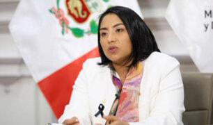 Ministra Neyra: si la oposición tiene información sobre el presidente deberían presentarla