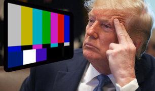 Discurso de Donald Trump fue sacado del aire por televisoras de EEUU