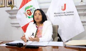 Neyra: Si creyera que el presidente Vizcarra fuera culpable, no seguiría siendo ministra