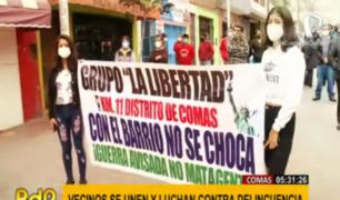 Comas: vecinos se organizan para enfrentar a la delincuencia