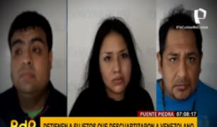 Cae banda que descuartizó y abandonó cuerpo de venezolano en Puente Piedra