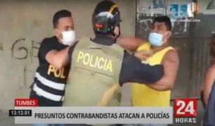 Agreden a policías para evitar la intervención de presuntos contrabandistas