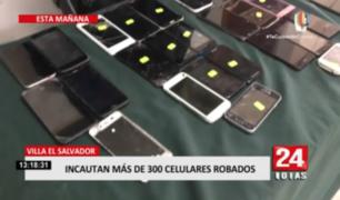 Villa El Salvador: incautan más de 100 celulares robados