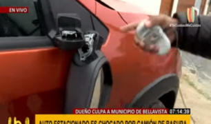 Bellavista: camión municipal dañó su auto y el alcalde da increíble respuesta